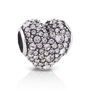 Charm Heart filled with CZ