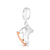 Dangle 14K Plated Ice Skate