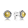 Stud Earring November with Citrine