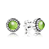 Stud Earring August with Peridot