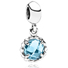 Charm Dangle with Blue Topaz