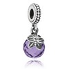 Dangle Butterfly with Purple CZ