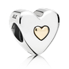 Charm Wedding day Heart with 14K Gold